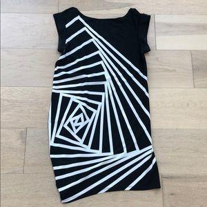 Geometric pattern BCBG dress